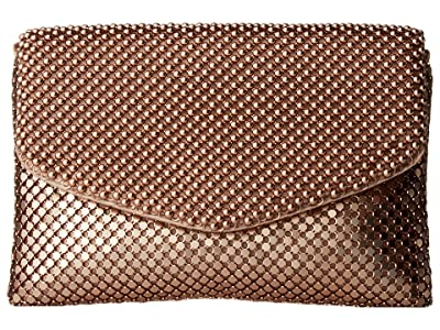 Jessica McClintock Brooklyn Flap Clutch (Blush) Clutch Handbags