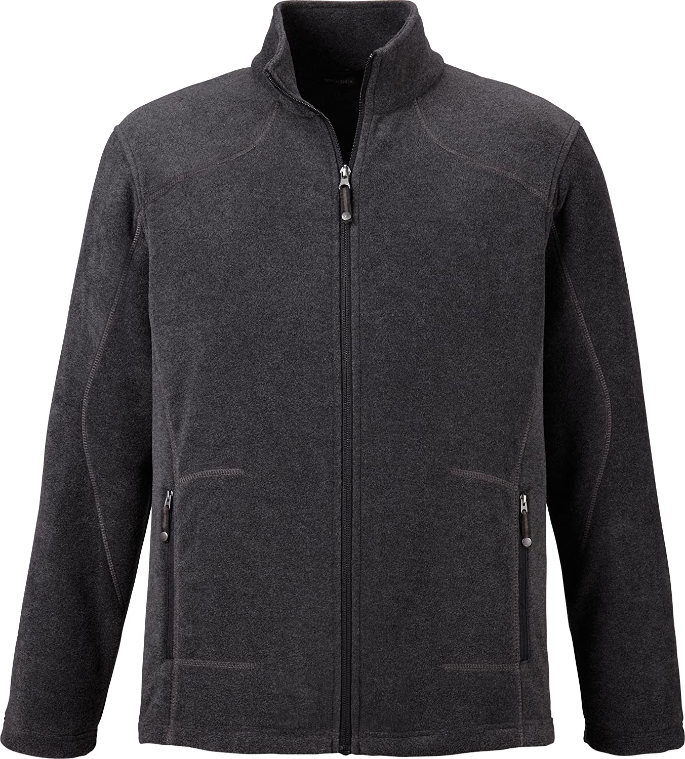 North End Mens Fleece Jacket. 88172 - Small - Heather Charcoal