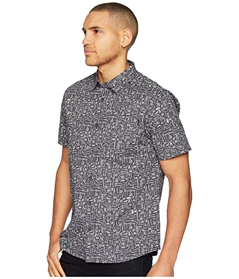 Sleeve O'Neill Growler Woven Short Top wCCEqRav