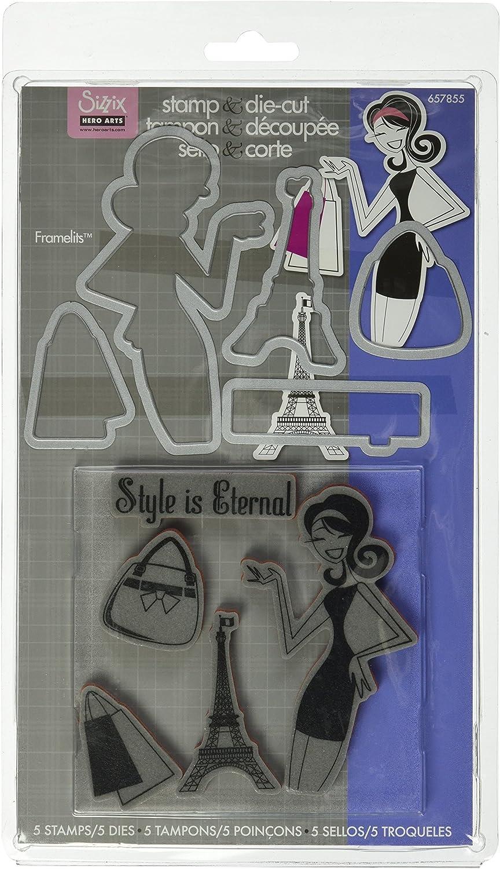 Sizzix Framelits Die Set 5 Stück mit Briefmarken – Stil ist ewig von Hero Arts B006KCE1F2 | Sale Deutschland