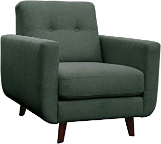 Amazon Brand – Rivet Sloane Mid-Century Modern Armchair with Tapered Legs, 32.7W, Emerald Green