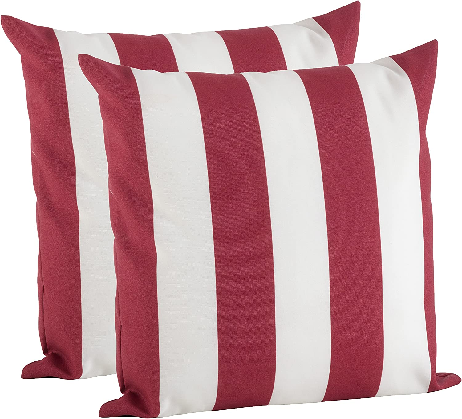 SARO LIFESTYLE Max 69% OFF Outdoor Pillow Collection 2 Pc Rapid rise Cover Striped Set
