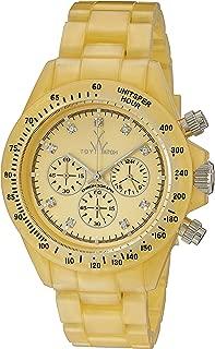 ToyWatch Women's FLP07GD Quartz Yellow Dial Plastic Watch