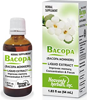Sponsored Ad - Improves Memory Concentration, Focus with Bacopa Drops - Bacopa Monnieri Extract | Brain Supplement Memory ...