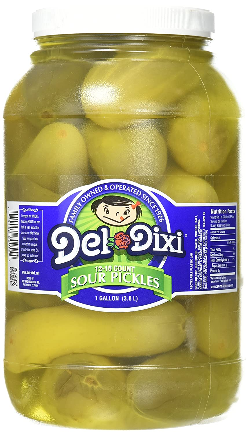 Del-Dixi Genuine Free Clearance SALE! Limited time! Shipping Sour Pickles 1 gal jar per 12-16 pickles