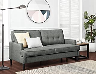 REALROOMS Dana Mid-Century Modern Sofa, Living Room Couch, Gray