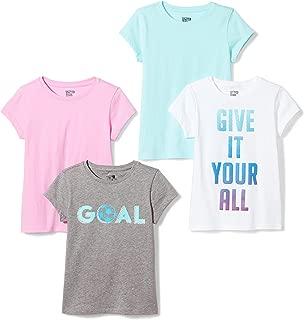 Amazon Brand - Spotted Zebra Girls' Toddler & Kids 4-Pack Short-Sleeve T-Shirts