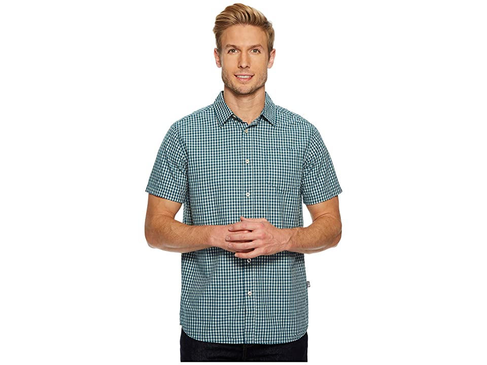 The North Face Short Sleeve Shadow Gingham Shirt (Blue Coral) Men