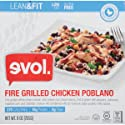Evol Lean & Fit, Fire Grilled Chicken Poblano Meal, 9 Ounce (Frozen)