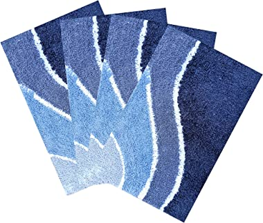 Shabiart Door mat for Home and Office Pack of 4 Piece 40x60 cm Multicolor