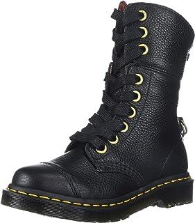 Dr. Martens Women's Aimilita Black Aunt Sally Leather Fashion Boot