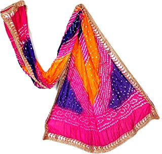 Best art silk bandhani dupatta Reviews
