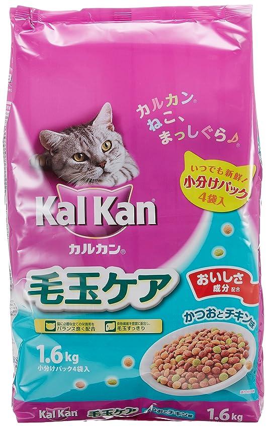 肉の伝統的ジェットカルカン ドライ 成猫用 毛玉ケア かつおとチキン味 1.6kg×6個 (ケース販売) [キャットフード]