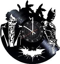 Ma Va Batman vs Joker Vinyl Record Wall Clock Gift for Fans Great Idea Home Decor DC Comics Vintage Decoration - Buy Gift for Everybody