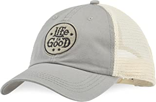 Life is Good A Soft Mesh Back Stacked Lig Circ Slagry Hat,