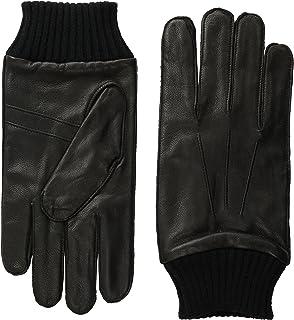 Ben Sherman Men's Leather Glove W Knit Trim