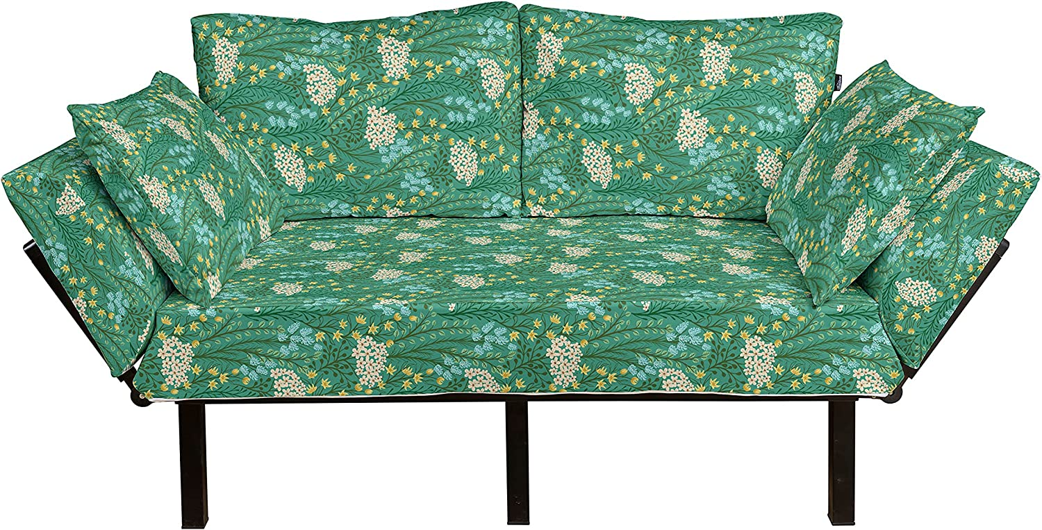 Ambesonne Floral Futon Couch Garden with Vibra Daily bargain sale Small of Flowers Selling
