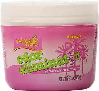 California Scents Odor Eliminator, Strawberries & Cream, 5.2-Ounce Jars (Pack of 12)