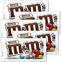 Five Packages of M&M'S New White Chocolate Candy Singles Size 1.5 - Ounce Pouch