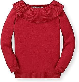 Hope & Henry Girls' Long Sleeve Ruffle Collar Sweater