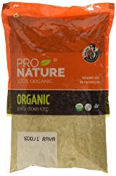 Pro Nature 100% Organic Whole Sooji Rava, 500g
