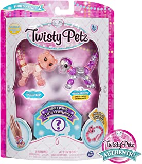 Twisty Petz, Series 2 3-Pack, Tickles Tiger, Pixiedust Puppy and Surprise Collectible Bracelet Set for Kids