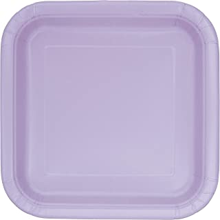 Unique Industries, Square Cake Paper Plates, 14 Pieces - Lavender
