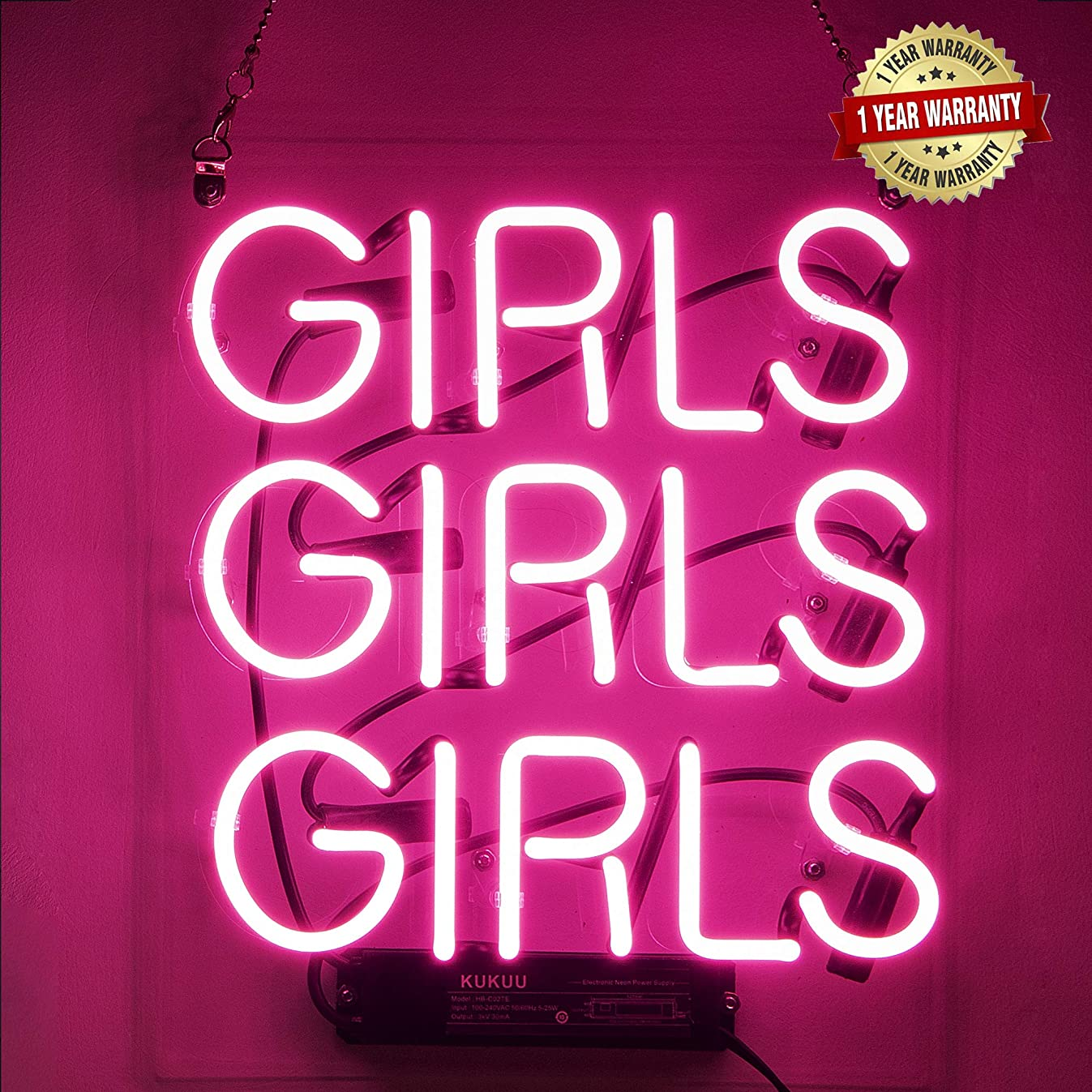 Neon Signs Girl Girls Girls Girls Neon Signs Girl Wall Decor Neon Light Sign Led Sign for Bedroom Neon Words Cool Art Neon Sign Cute Neon Lamps Home Room Beer Bar Custom Red Neon Wall Light 12