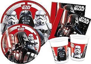 Ciao y4492 Kit Party Tisch Star Wars Final Battle für 8 Personen, schwarz/weiß