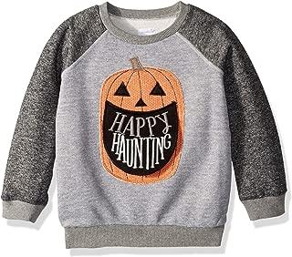 Boys' Little Halloween Pumpkin Long Sleeve Sweatshirt