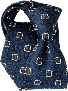 [ステファノ ビジ] ネクタイ ビジネス ブランド イタリア製 シルク メンズ おしゃれ 小紋 メランジネイビー