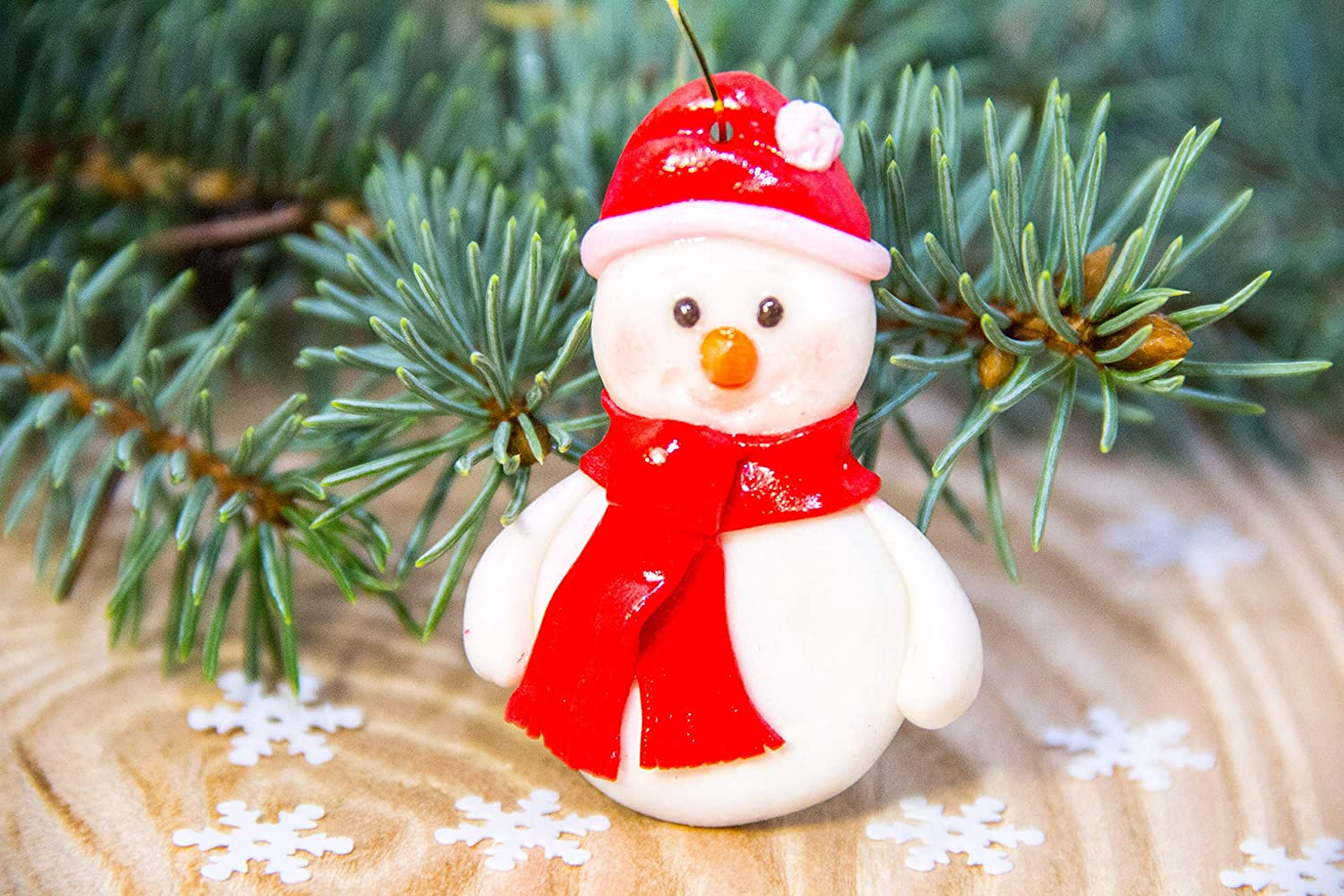 Rapid rise Handmade Snowman Ornament Custom Decoration Max 88% OFF Our First Christmas