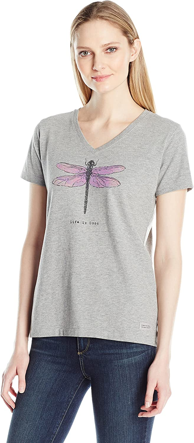 Life is good Womens Crusher Vee Dragonfly