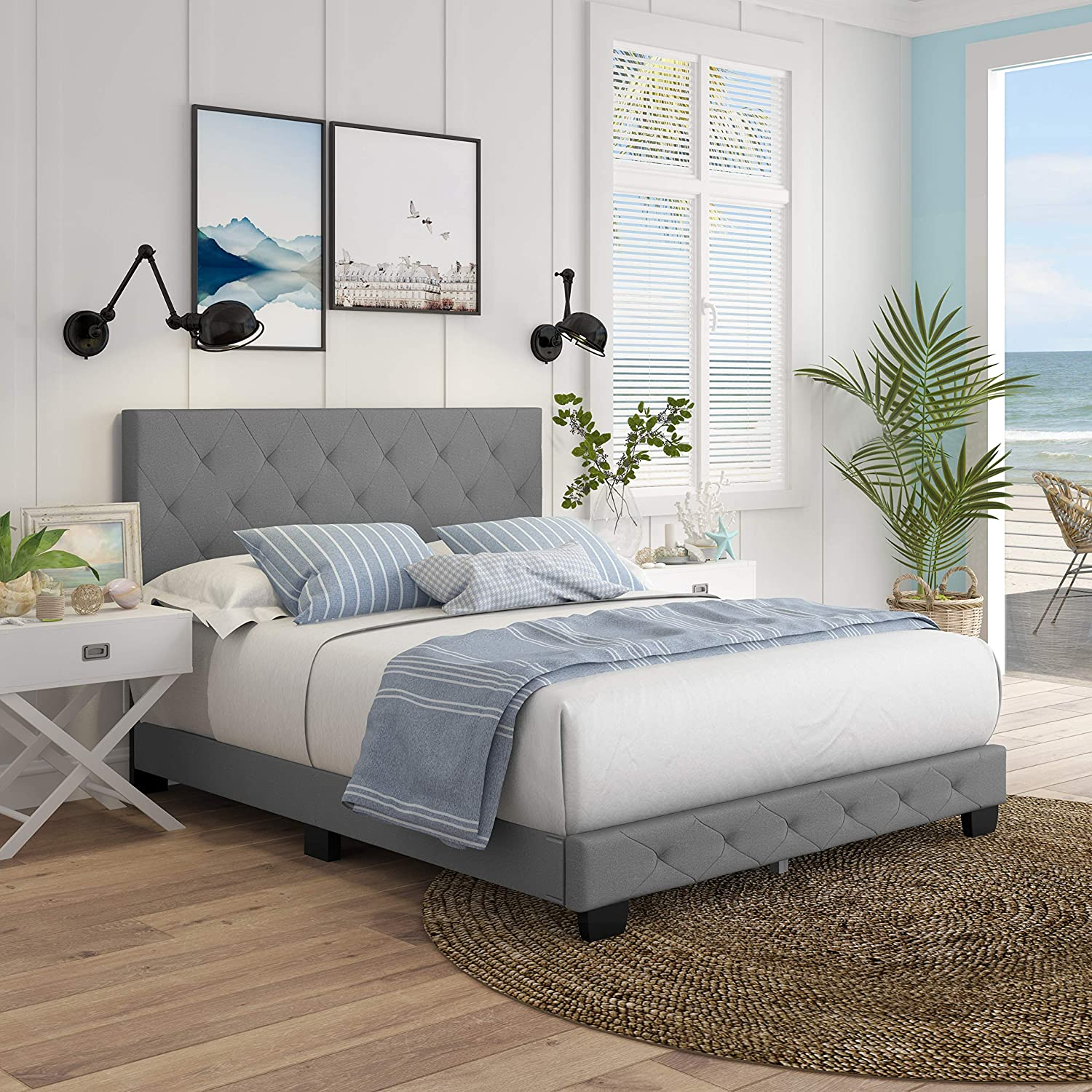 Super popular specialty store Boyd Sleep Chloe Upholstered Ranking TOP13 Tufted with Platform Bed Headboard