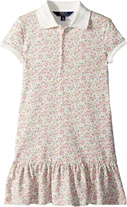 Polo Ralph Lauren Kids Floral Stretch Mesh Polo Dress (Little Kids)