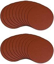POWERTEC 45508 5-Inch PSA 80 Grit Aluminum Oxide Adhesive Sanding Disc, 20-Pack
