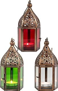 Oriental Marocain lanterne photophore de Jardin Métal Vintage Table Lanterne