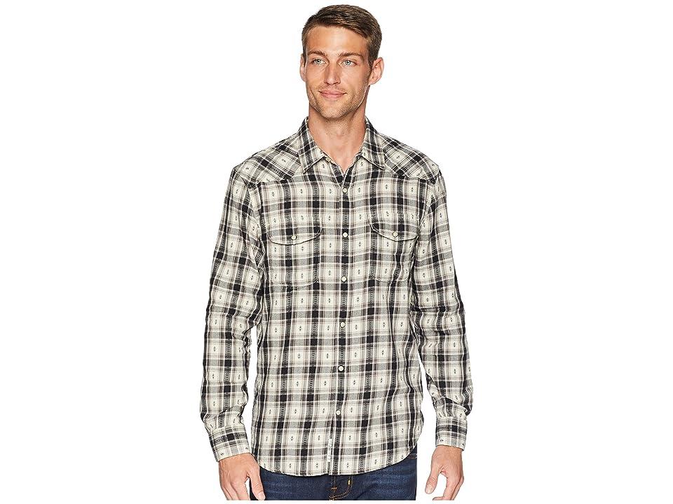 Lucky Brand Dobby Western Shirt (Black/White) Men