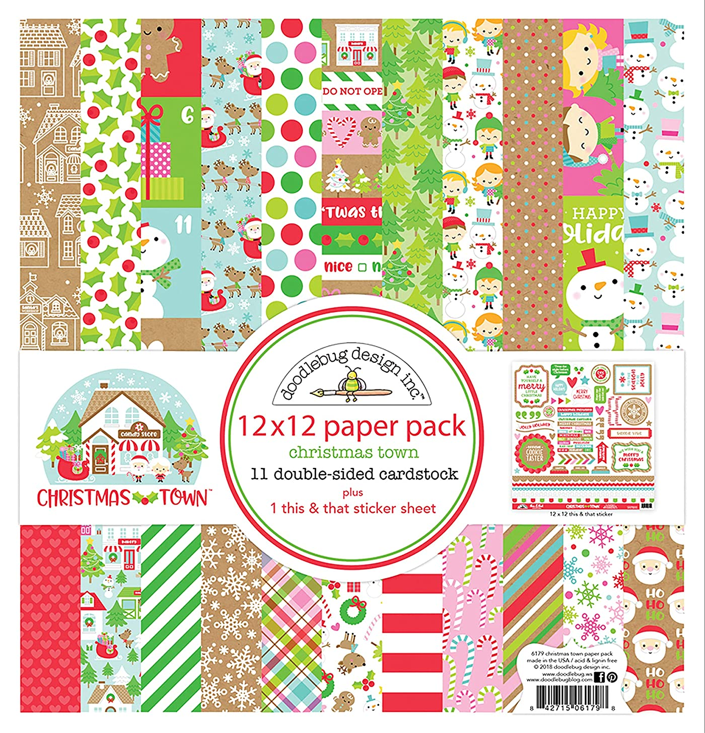 Doodlebug 6179 CT Paper Pack 12x12, 12-x-12-Inch