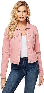 Women's Plus Size Pixie Classic Feminine Fit Crop Jean Jacket
