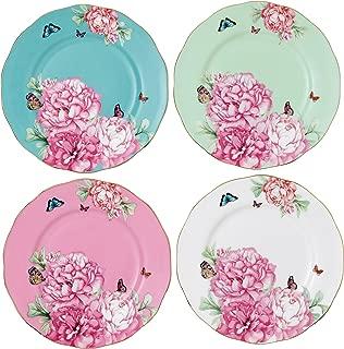 Royal Albert 40001836 Blessings, Joy, Gratitude and Devotion Tidbit Plates Designed by Miranda Kerr, 3.9-Inch, Set of 4