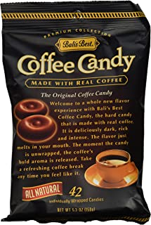 Bali's Best Coffee Hard Candy 5.3 oz Bags in a Gift Box (Pack of 6)