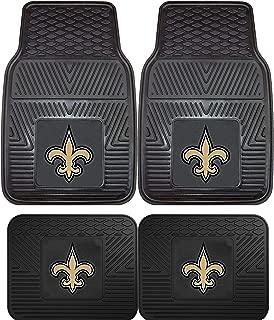New Orleans Saints NFL 4pc Floor Mat Sets (Front and Rear) - Heavy Duty-Cars, Trucks, SUVs