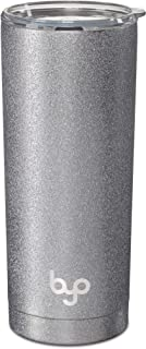 BUILT Vacuum Insulated Tumbler Double Wall, 20-Ounce, Silver Glitter