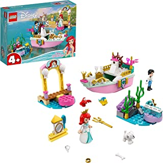 LEGO 43191 Disney Princess Ariel's Celebration Boat Toy,The Little Mermaid Set for 4+ Years Old