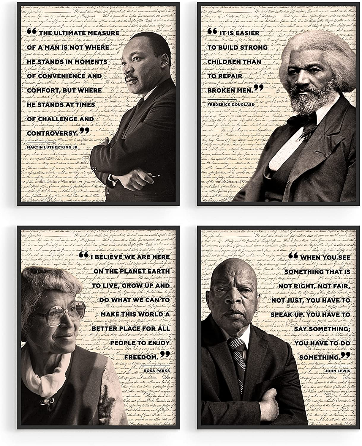 African American Art Black History Posters for Classroom - by Haus and Hues | Black History Month Decorations & African American Posters for Classroom | African American Wall Art UNFRAMED (8