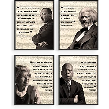 """African American Art Black History Posters for Classroom - by Haus and Hues   Black History Month Decorations & African American Posters for Classroom   African American Wall Art UNFRAMED (8"""" x 10"""")"""
