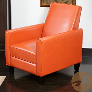 Christopher Knight Home Lucas Recliner Club Chair, Orange