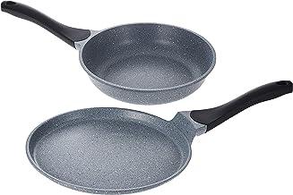 ادوات مطبخ من الالمنيوم المصبوب من كاست طقم اواني جرانيت ان/اس قطعتين، باللون الرمادي WR80756