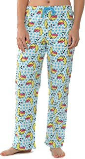 Image of Comfy Cat Flannel Pajama Pants for Women - Sleepy Kitty